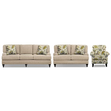 Sofa And Accent Chair Set Avery Taupe 86 Quot Sofa 62 Quot Sofa And Accent Chair Set Value City Furniture
