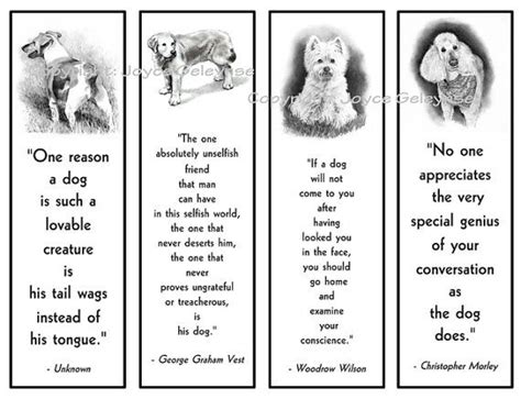 printable dog quotes printable bookmarks dogs in pencil with quotes about dogs