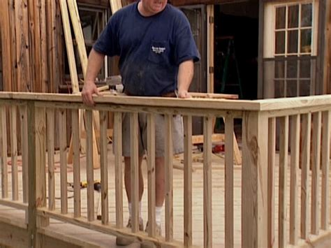 installing a banister patio deck railing design how to install deck railing