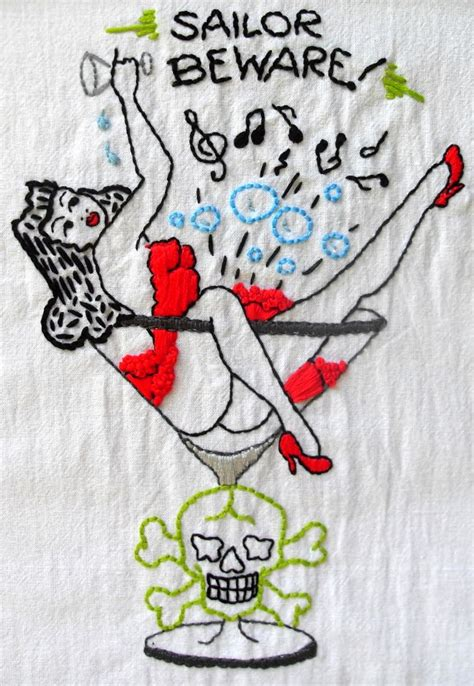 tattoo flash embroidery sailor beware diy and crafts pinterest