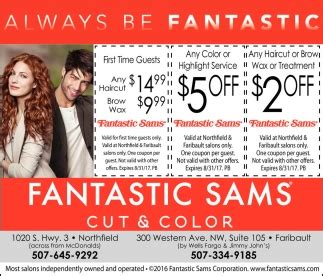 haircut coupons rochester mn weekday specials fantastic sams cut and color northfield mn