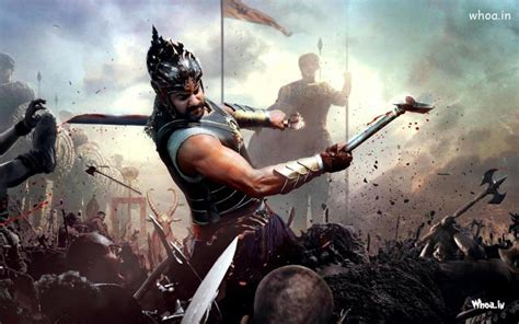 prabhas fight in bahubali movies hd wallpaper