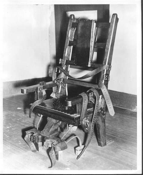 electric chair pictures penalty reflections and