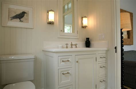 white bathroom cabinets cottage bathroom