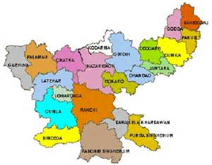 Jharkhand by Bihar And Jharkhand District Map Of Jharkhand