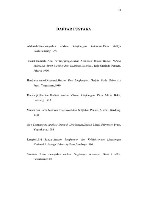 Hukum Tata Lingkungan Koesnadi tugas hukum lingkungan