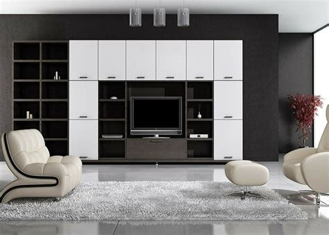 black wall units for living room two unique types of wall units for a living room a
