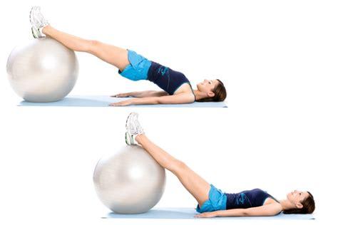 Swiss Ball Reverse Plank   MiNDFOOD