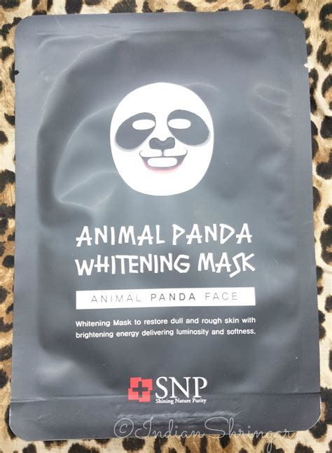 Sachet Snp Animal Panda Whitening Mask Masker Panda Lucu Imut maskgenie 10 days in the mask pouch unboxing and contents the bombay