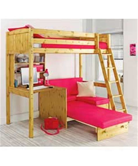 High Sleeper Beds Compare Prices by Antique Pine High Sleeper Comfort Mattress Fuschia Sofabed Review Compare Prices Buy