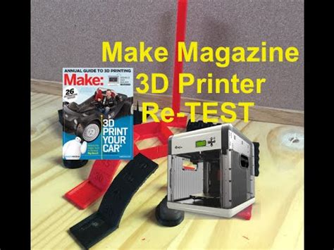 Make 3d Creatures From Your Printer by Make Magazine 3d Printer Re Test Of Davinici 3d
