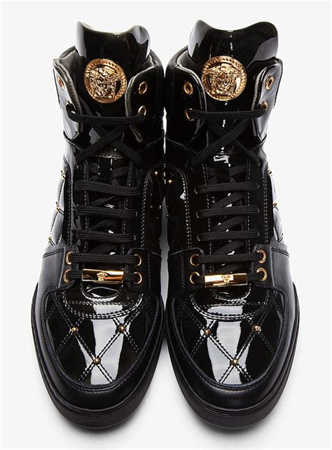 versace sneakers shoes of the day versace gold medusa quilted black patent