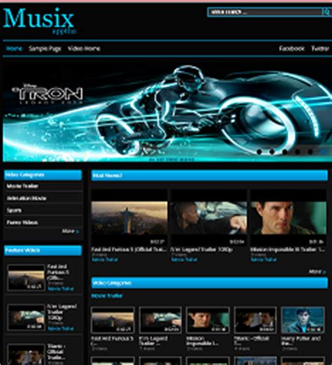theme song exles website video gallery