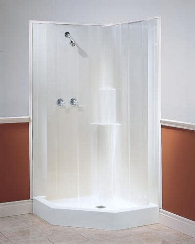 menards bathroom shower stalls majestic one piece neo angle shower at menards for the