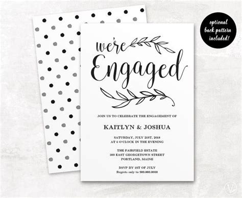 The 25 Best Engagement Invitation Template Ideas On Pinterest Wedding Card Design Save The Engagement Invitation Card Template