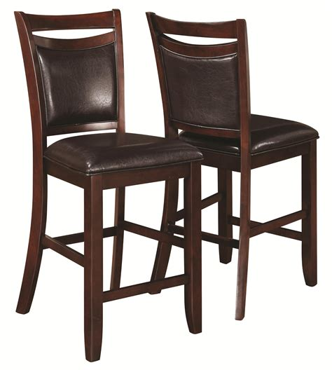 Upholstered Bar Height Chairs Coaster Dupree Casual Upholstered Counter Height Stool