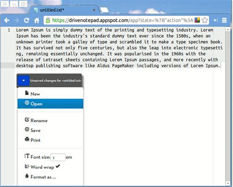drive notepad 4 note taking apps to edit text inside google chrome