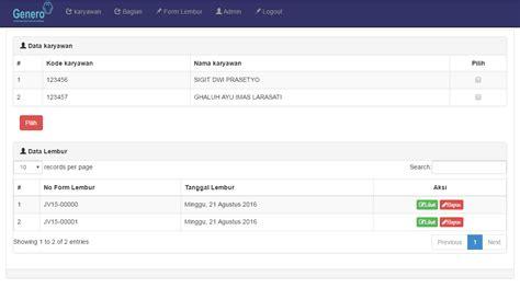 membuat web form aplikasi form lembur berbasis web