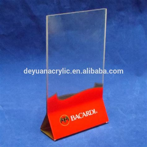 Acrylic Meja vertical acrylic menu display stand or acrylic menu holder with different size buy acrylic