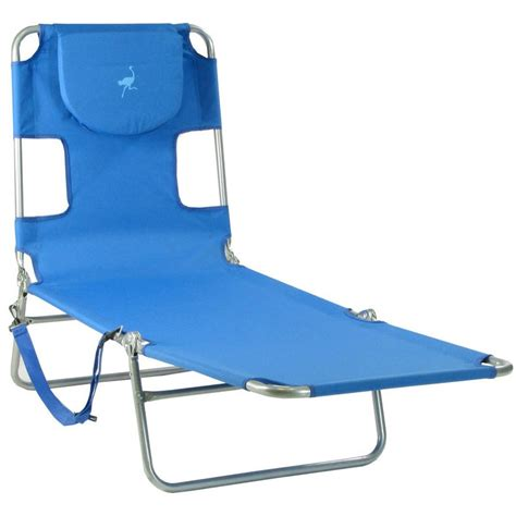 foldable chaise lounge ostrich mp102 folding beach chaise lounge ocean blue
