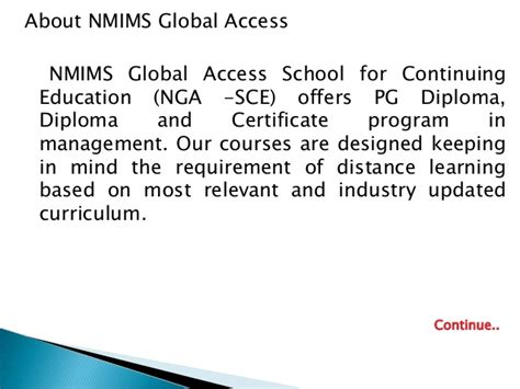 Nmims Executive Mba Eligibility Criteria by Mba Project Report Of Nmims Global Access