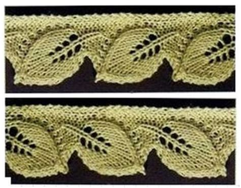 leaf edging knitting pattern 1000 images about knitted lace on