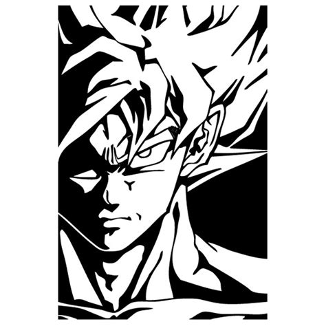 imagenes en blanco y negro de dragon ball wall sticker goku drag 243 n ball
