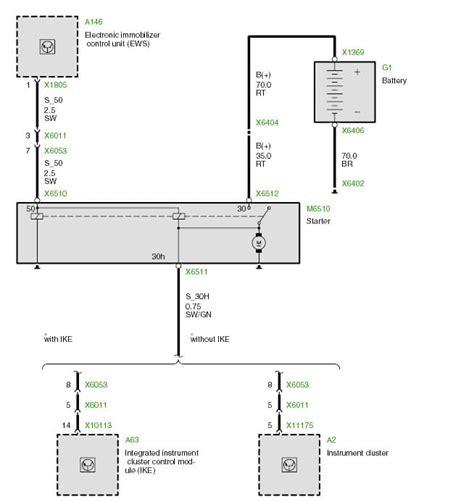 bmw starter motor wiring diagram