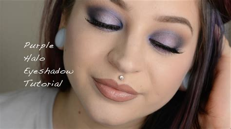eyeshadow tutorial watch me purple halo eyeshadow tutorial youtube