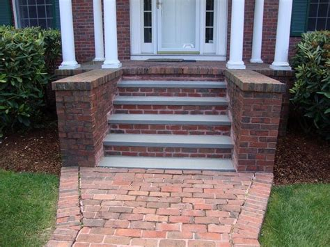 brick and bluestone front steps this old house