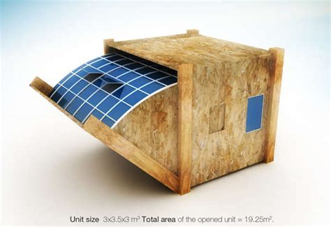 design of housing units a solar powered temporary housing unit now home to damaged property victims the