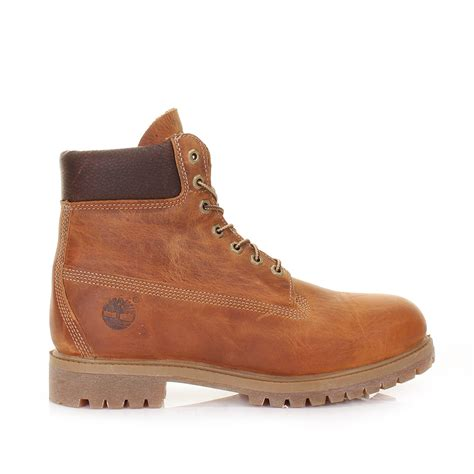 leather timberland boots timberland premium icon 6 inch leather burnt orange
