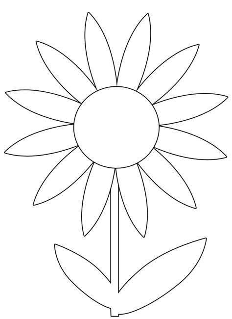 flower colouring template free printable flower stencil templates clipart best