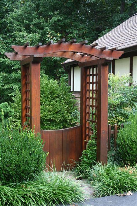Garden Arbor Gate Designs Garden Gate With Pergola Contemporary Landscape Dc