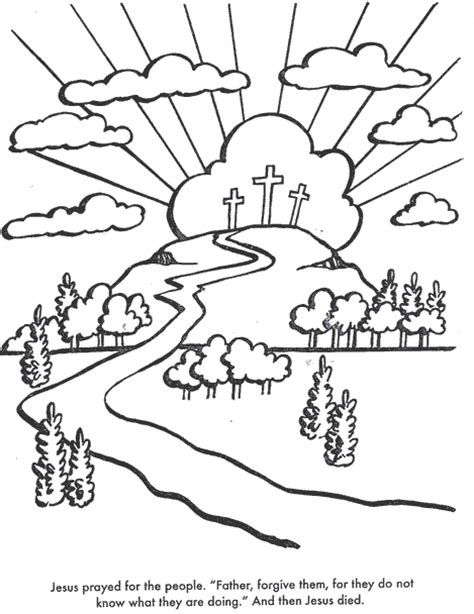 bible coloring pages the crucifixion