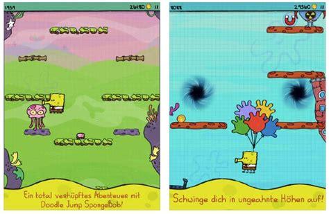 doodle jump kostenlos spielen app der woche doodle jump spongebob schwammkopf kostenlos