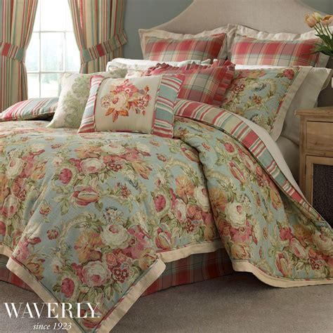 bling floral comforter bedding by waverly