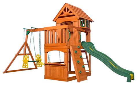 kids wooden swing sets backyard discovery atlantis all cedar wood playset