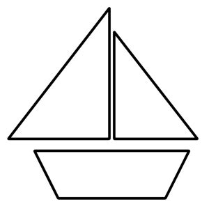 simple boat template sailboat template clipart best