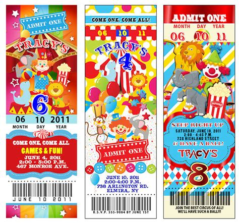 Where To Buy Carnival Gift Cards - 25 circus carnival vintage ticket invitations thickcc ebay