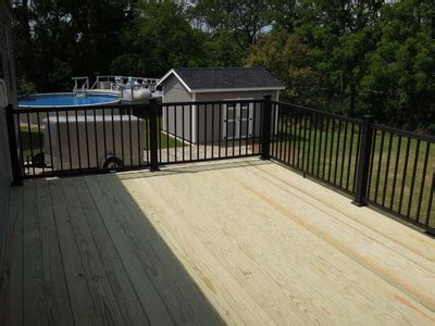 pressure treated deck w aluminum railing middletown oh area