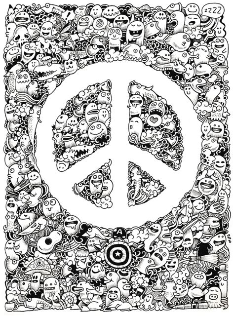 doodle drawings to print peace doodle print by kerby rosanes society6