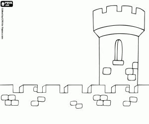 castle wall coloring page adventure in the middle ages coloring pages printable games