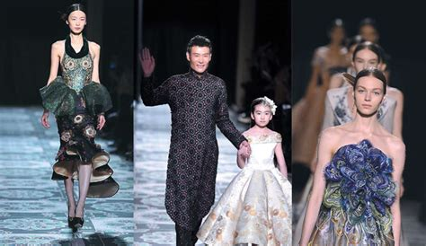 Hosh Poshsignature Series In 3 Flavour lauence xu and models parade his creations at the haute couture fashion week photos