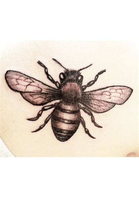 bees knees tattoo honey bee tattoos realistic blackandgrey bee