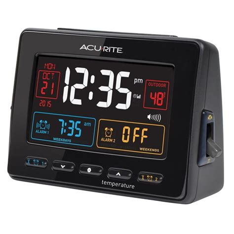 atomic clock  dual alarm usb charger  temperature