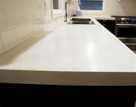 white concrete countertop sealing our white concrete countertops chris