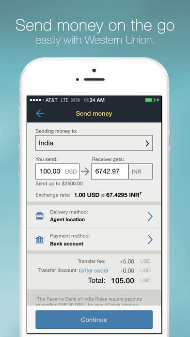 western union mobile western union money transfer on the app store