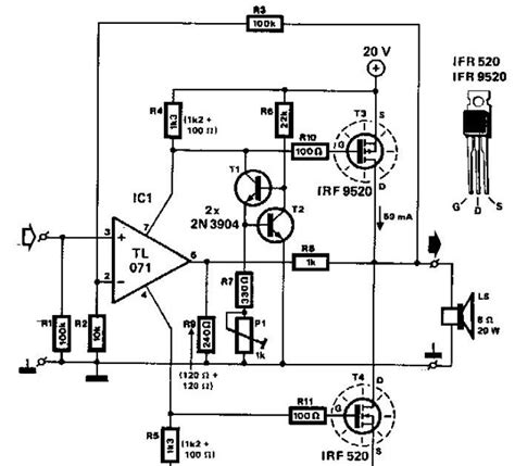 transistor audio lifier circuit diagram 28 images