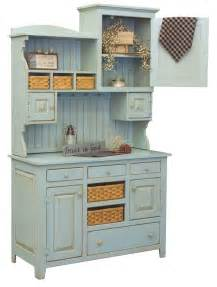 Kitchen Wood Furniture Amish Country Kitchen Hutch Farm House Pantry Cupboard